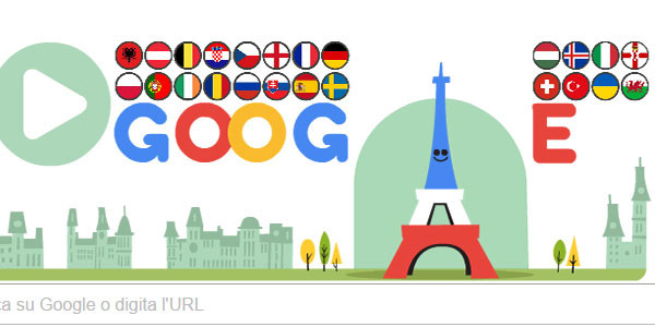 La Torre Eiffel palleggia, Doodle Google per calcio d'inizio