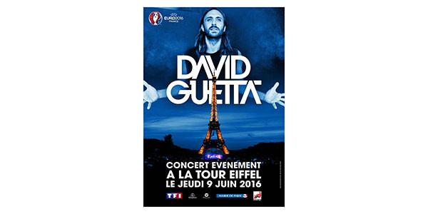 Euro2016, show di David Guetta alla Torre Eiffel illuminata