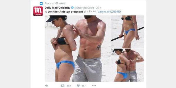 Jennifer Aniston incinta a 47 anni? Il gossip viene subito smentito