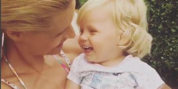 Michelle Hunziker è incinta un fratellino per Celeste?