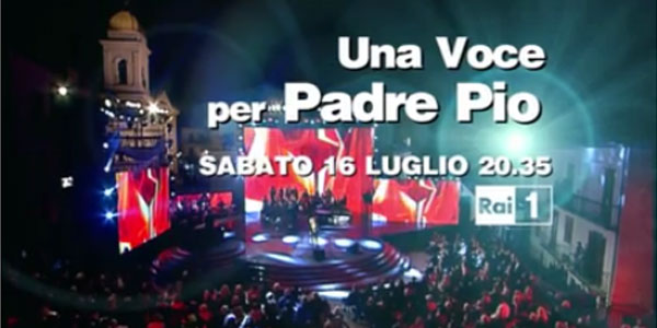 """Torna su Rai 1 """"Una voce per Padre Pio"""", a condurre Alessandro Greco e Gigi D'Alessio"""