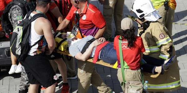 Rio 2016, cade telecamera sospesa al parco olimpico. Due feriti lievi