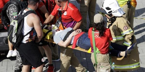 Rio, tragedia sfiorata al parco olimpico |Cade una telecamera sospesa: sette feriti