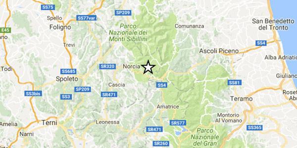 Terremoto, scossa di magnitudo 3.5 vicino Arquata