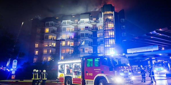 Germania, incendio in ospedale: 2 morti e 15 feriti