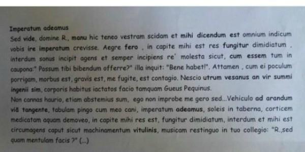 Imperatum adeamus, Andiamo a Comandare di Fabio Rovazzi in latino