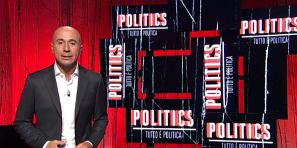 Politics sbarca su RAI 3, per Gianluca Semprini 'tutto è politica'