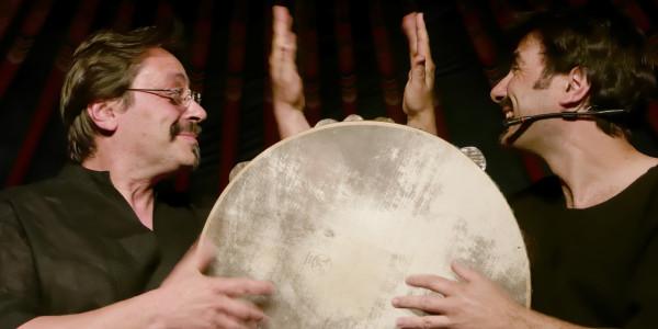 Tammorre all'Agricantus con il Mirror drums di Laguardia e Meccio