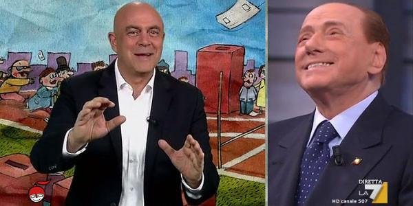 Copertina Crozza a DiMartedì con Silvio Berlusconi: Video (29 novembre 2016)