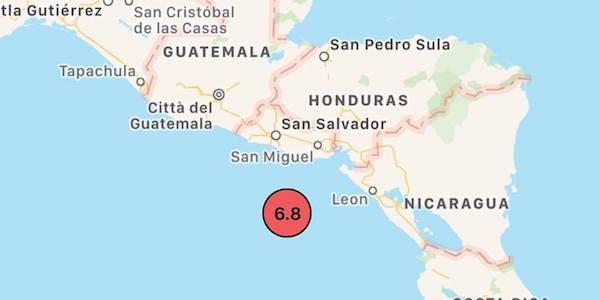 Terremoto, tremenda scossa a El Salvador: magnitudo 7.2.