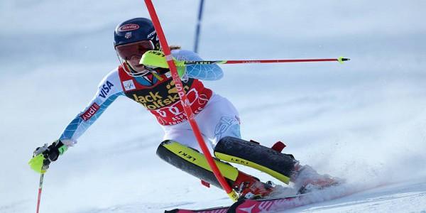 Levi, slalom femminile: Mikaela Shiffrin in testa dopo la 1a manche