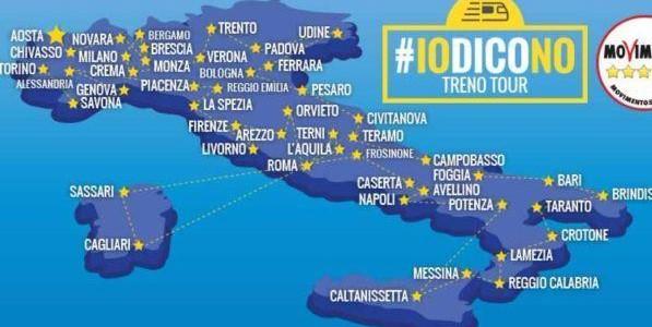 Il treno-tour di Grillo per spiegare le ragioni del No al referendum