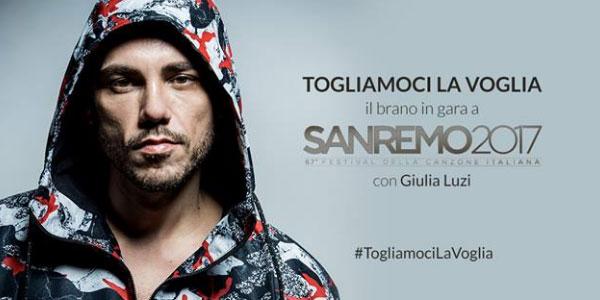 """Sanremo 2017, il testo di """"Togliamoci la voglia"""" di Raige e Giulia Luzi"""