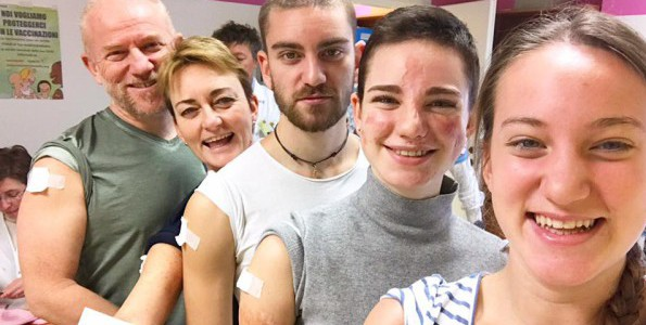 Bebe Vio contro la meningite: il 2017 inizia con il vaccino
