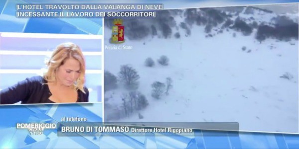 Tragedia sfiorata per Barbara D'Urso: ospite del resort ricoperto dalla valanga