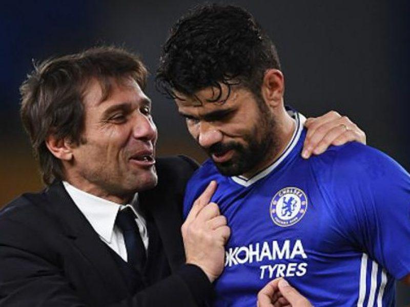 Conte , Diego Costa, Conte Chelsea, risultato Chelsea - Swansea, Chelsea - Swansea marcatori, vantaggio Chelsea Premier League, premier League, premier League Chelsea, Premier League Leicester, Leicester
