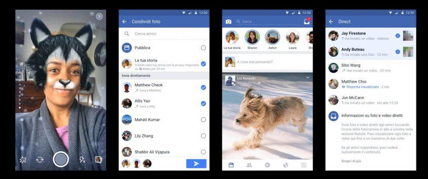 Facebook-Camera-schermate