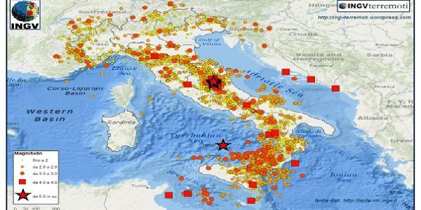Terremoti: 53mila scosse nel 2016, più del triplo dell'anno precedente