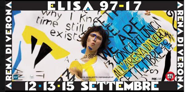 Elisa festeggia all'Arena di Verona vent'anni di carriera