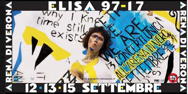 Elisa compie 20 anni di carriera, tre date all'Arena di Verona per festeggiare con i fan