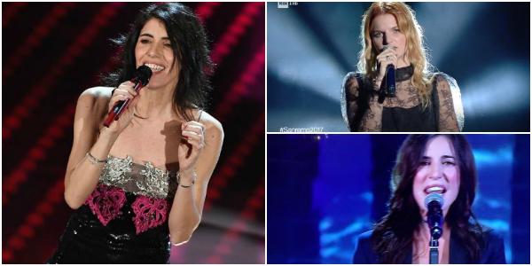 Sanremo 2017, i look della seconda serata: Giorgia delude, Paola Turci osa e mostra il décolleté – FOTO