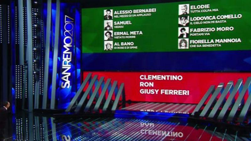 Festival di Sanremo 2017, Tiziano Ferro incanta. Clementino, Ron e Giusy Ferreri sono a rischio