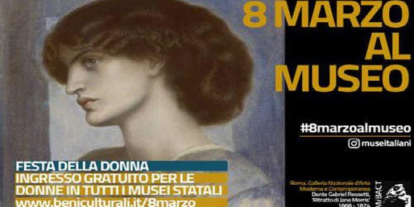Musei Gratis per le donne per celebrare l'8 marzo