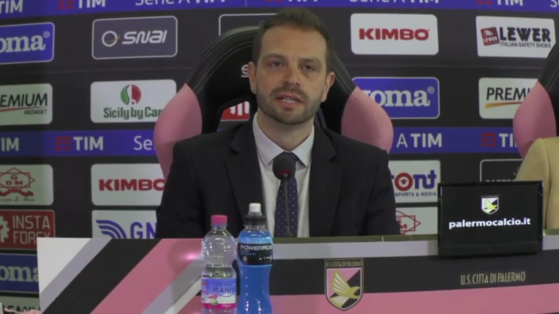 Palermo, ufficiale Tedino nuovo allenatore e Lupo direttore sportivo