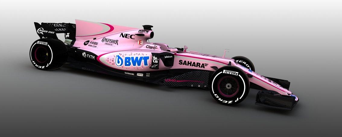 """F1, la nuova Force India è rosanero! E il Palermo calcio risponde: """"Splendidi colori"""" / FOTO"""