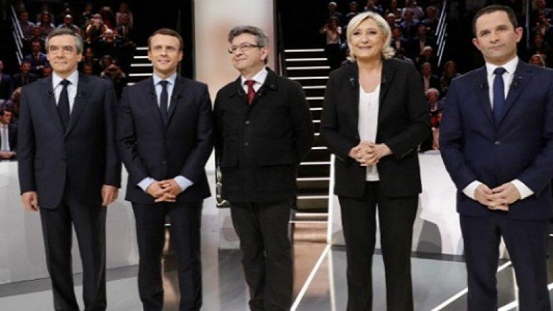 Francia, primo dibattito tv tra i candidati all'Eliseo Scontro sulla sicurezza, Macron è in vantaggio