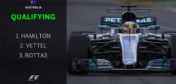 Ferrari qualifiche Melbourne, Hamilton pole Melbourne, qualifiche GP Australia, qualifiche gp Melbourne, qualifiche Melbourne, Vettel secondo Australia