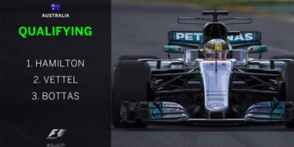 F1, Hamilton si prende la prima pole stagionale | Vettel secondo, Kimi quarto, sorpresa Giovinazzi