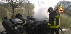Vigili del fuoco MArche incidente Arcevia