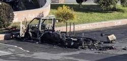 Camper rom incendio Roma