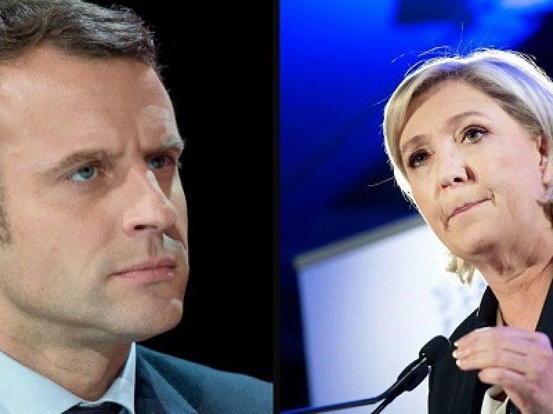 marine le pen, emmanuel macron, sondaggi elezioni europee maggio 2019, francia