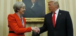 may contro trump, trump contro May, trump may tweet, trump terrorismo, tweet trump, Usa, Usa contro Uk