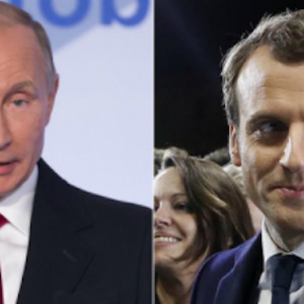 """Francia, Macron e Putin si incontrano a Versailles   """"Siria sotto osservazione, pronti a intervenire"""""""