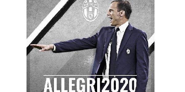 Juventus, Massimiliano Allegri rinnova fino al 2020