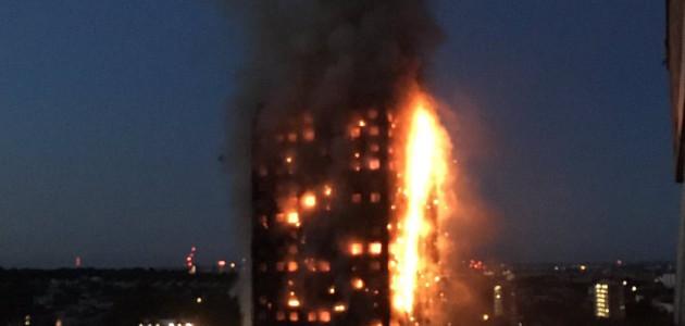 Londra Grattacielo fiamme