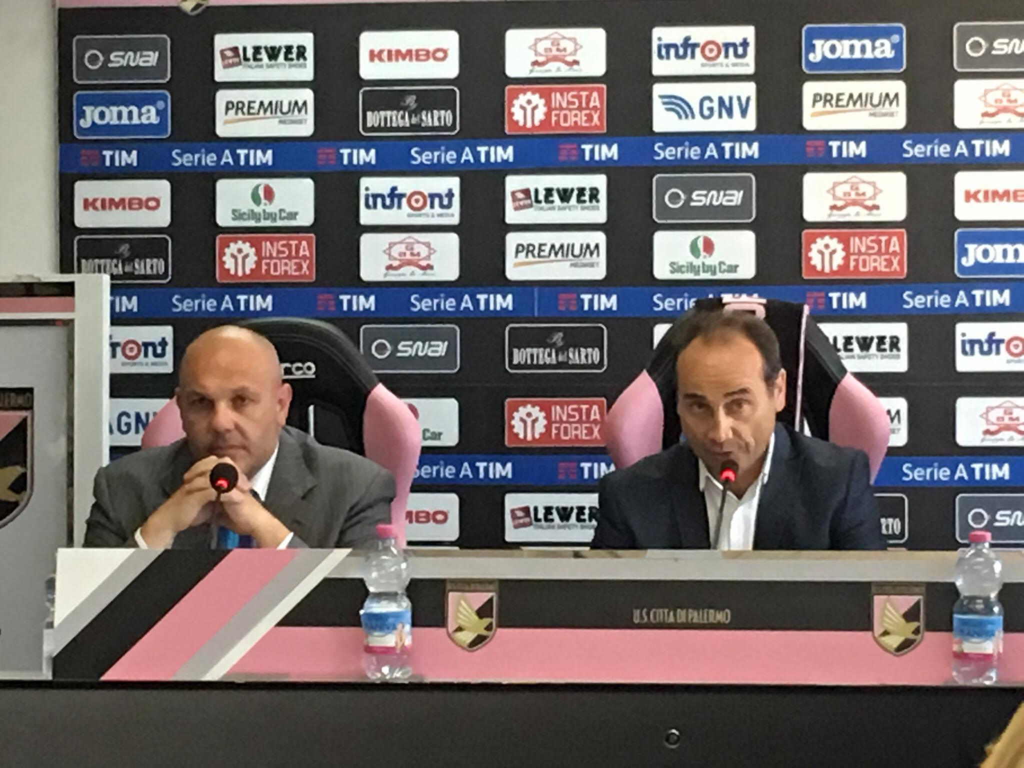 """Palermo, Tedino: """"Servono attributi, non parole"""". Lupo: """"Obiettivo Serie A"""""""