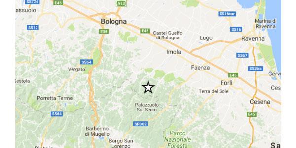 Scossa di terremoto sull'Appennino bolognese