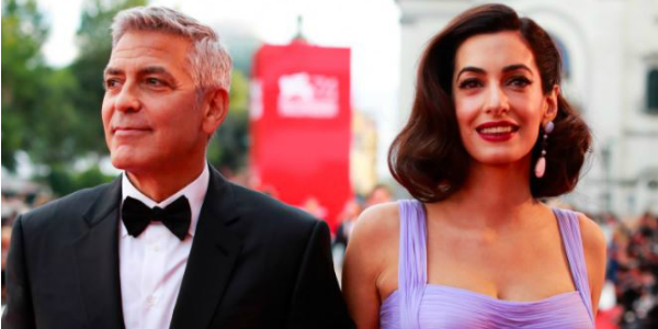 Usa, George Clooney e Amal contro Trump