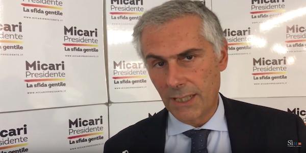 assessori micari, Fabrizio Micari, intervista micari, intervista micari sì24, Micari, programma micari, regionali micari