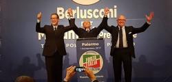 Berlusconi Musumeci, Berlusconi Palermo 1 novrembre, Forza Italia Palermo 1 novembre, Nello Musumeci presidente, Palermo, Silvio Berlusconi