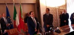 crocetta musumeci, insediamento Musumeci, musumeci, musumeci presidente, Palermo, scambio consegne Musumeci