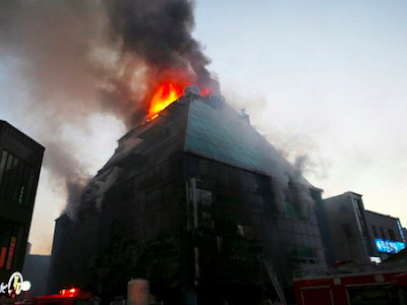 Incendio Corea del Sud, incendio jecheon, morti incendio jecheon, morti jecheon