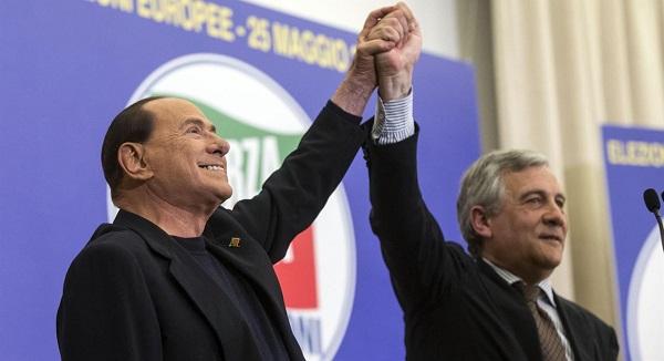 Berlusconi sponsorizza Tajani come premier