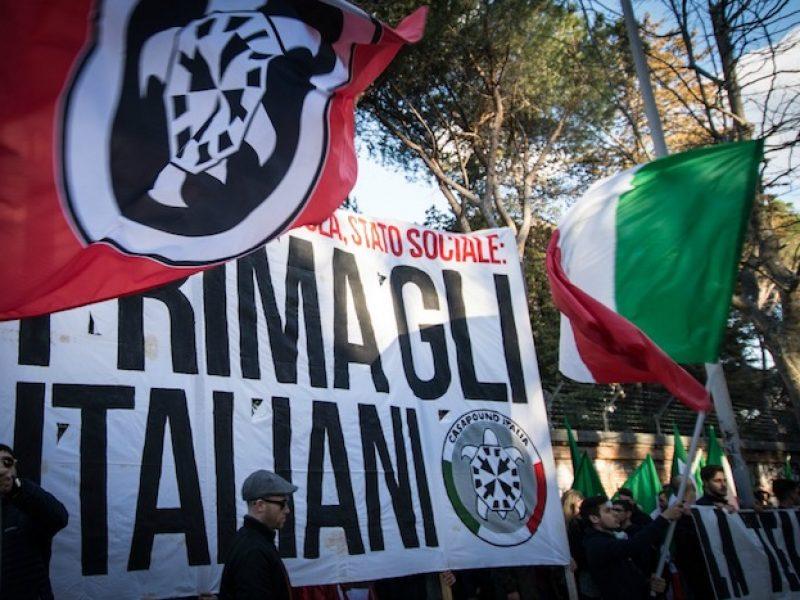 Politiche, banchetto Casapound: tafferugli a Monza