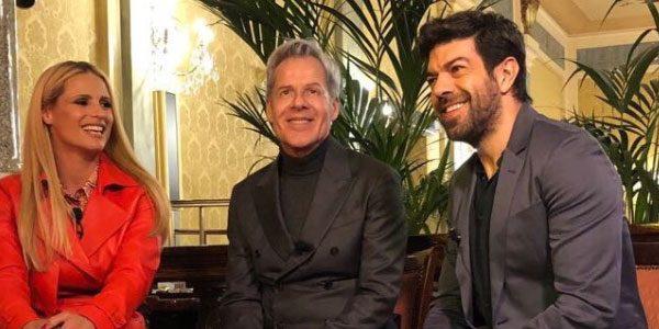 Michelle Hunziker e Pier Francesco Favino co-conduttori del Festival di Sanremo