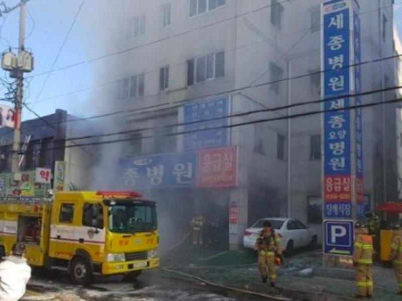 Milyang, incendio Milyang, incendio corea del sud, incendio ospedale corea del sud,